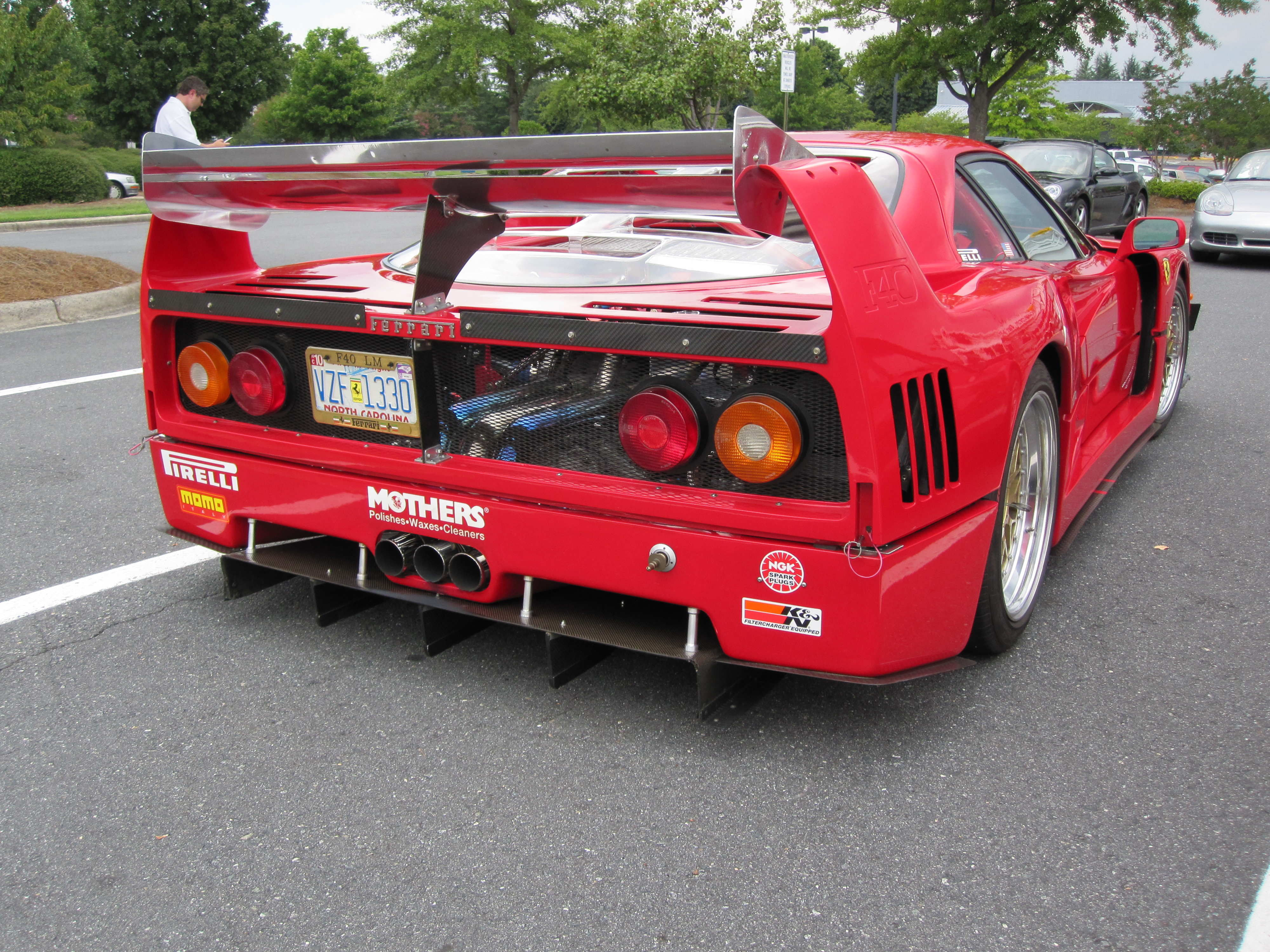 ... view picture of Ferrari F40, sports car, exaust system, sports f40